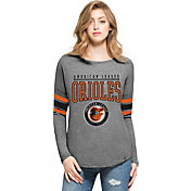'47 Women's Baltimore Orioles Grey Courtside Long Sleeve Shirt
