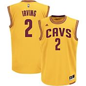 adidas Men's Cleveland Cavaliers Kyrie Irving #2 Alternate Gold Replica Jersey