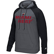 adidas Men's Miami Heat climawarm Tip-Off Grey/Black Hoodie