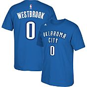 adidas Men's Oklahoma City Thunder Russell Westbrook #0 Blue T-Shirt