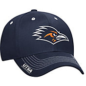 adidas Men's UTSA Roadrunners Blue Sideline Coaches Structured Flex-Fitted Hat