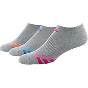 adidas Women's Cushioned Variegated No Show Socks 3 Pack