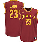 adidas Youth Cleveland Cavaliers LeBron James #23 Road Burgundy Replica Jersey