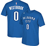 adidas Youth Oklahoma City Thunder Russell Westbrook #0 Blue Performance T-Shirt