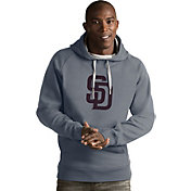 Antigua Men's San Diego Padres Grey Victory Pullover