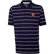 Antigua Men's Clemson Tigers Purple Deluxe Performance Polo