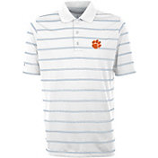 Antigua Men's Clemson Tigers Deluxe Performance White Polo