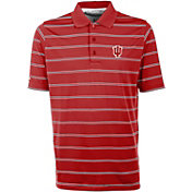 Antigua Men's Indiana Hoosiers Crimson Deluxe Performance Polo