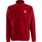 Antigua Men's Indiana Hoosiers Crimson Ice Full-Zip Jacket