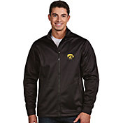 Antigua Men's Iowa Hawkeyes Black Performance Golf Jacket