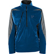 Antigua Men's St. Louis Blues Discover Blue Half-Zip Pullover Jacket