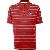 Antigua Men's Montreal Canadiens Deluxe Red Polo