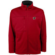 Antigua Men's Calgary Flames Red Traverse Fleece Jacket