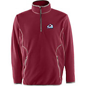 Antigua Men's Colorado Avalanche Burgundy Quarter-Zip Ice Pullover