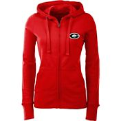 Antigua Women's Georgia Bulldogs Red Full-Zip Hoodie