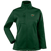 Antigua Women's Minnesota Wild Traverse Soft Shell Full-Zip Hunter Green Jacket