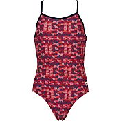 arena Girls' Network Light Drop Back Swimsuit