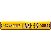 Authentic Street Signs Los Angeles Lakers Court Sign