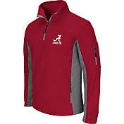 Colosseum Men's Alabama Crimson Tide Crimson Quarter-Zip Plow Jacket