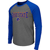 Colosseum Men's Boise State Broncos Grey Olympus Long Sleeve Shirt
