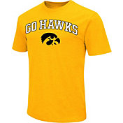 Colosseum Athletics Men's Iowa Hawkeyes Gold Team Slogan T-Shirt