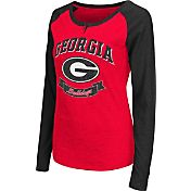 Colosseum Athletics Women's Georgia Bulldogs Red Healy Long Sleeve Shirt