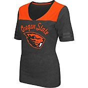 Colosseum Athletics Women's Oregon State Beavers Grey Twist V-Neck T-Shirt
