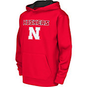 Colosseum Athletics Youth Nebraska Cornhuskers Scarlet Performance Hoodie