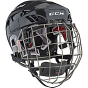 CCM Senior FitLite 80 Ice Hockey Helmet Combo