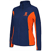 Colosseum Athletics Women's Syracuse Orange Blue/Orange Alpine Quilted Jacket