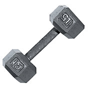 Fitness Gear 15 lb Cast Hex Dumbbell