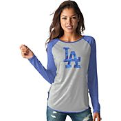 Touch by Alyssa Milano Women's Los Angeles Dodgers Grey/RoyalLong Sleeve Shirt