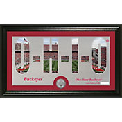 Highland Mint Ohio State Buckeyes Framed 'Silhouette' Bronze Coin Photo Mint
