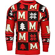KLEW Men's Maryland Terrapins Red Ugly Sweater