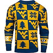 Klew Men's West Virginia Mountaineers Blue Ugly Sweater