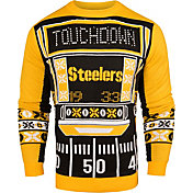 KLEW Men's Pittsburgh Steelers Light Up Ugly Sweater