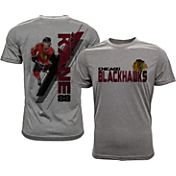Levelwear Men's Chicago Blackhawks Patrick Kane #88 Grey Spectrum T-Shirt