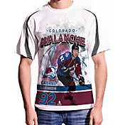 Levelwear Men's Colorado Avalanche Gabriel Landeskog #92 Center Ice White T-Shirt