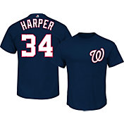 Majestic Men's Washington Nationals Bryce Harper #34 Navy T-Shirt