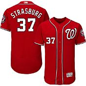 Majestic Men's Authentic Washington Nationals Stephen Strasburg #37 Alternate Red Flex Base On-Field Jersey