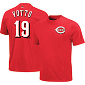 Majestic Triple Peak Men's Cincinnati Reds Joey Votto Red T-Shirt