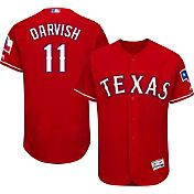 Majestic Men's Authentic Texas Rangers Yu Darvish #11 Alternate Red Flex Base On-Field Jersey
