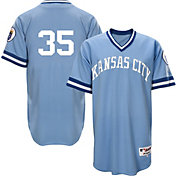 Majestic Men's Kansas City Royals Eric Hosmer #35 Light Blue Turn Back The Clock Authentic Flex Base Jersey