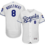 Majestic Men's Authentic Kansas City Royals Mike Moustakas #8 Home White Flex Base On-Field Jersey