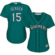Majestic Women's Replica Seattle Mariners Kyle Seager #15 Cool Base Alternate Teal Jersey