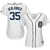 Majestic Women's Replica Detroit Tigers Justin Verlander #35 Cool Base Home White Jersey