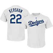 Majestic Youth Los Angeles Dodgers Clayton Kershaw #22 White T-Shirt
