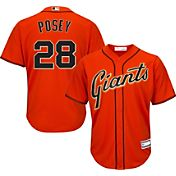 Majestic Youth Replica San Francisco Giants Buster Posey #28 Cool Base Alternate Orange Jersey