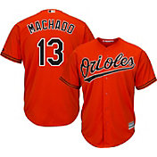 Majestic Youth Replica Baltimore Orioles Manny Machado #13 Cool Base Alternate Orange Jersey