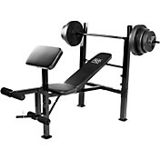 Marcy Pro Standard Weight Bench with 100 lb. Weight Set